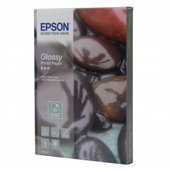 """Epson Glossy Photo Paper, foto papír, lesklý, bílý, 13x18cm, 5x7"""", 225 g/m2, 50 ks, C13S042048, inkoustový,univerzální photo papír"""