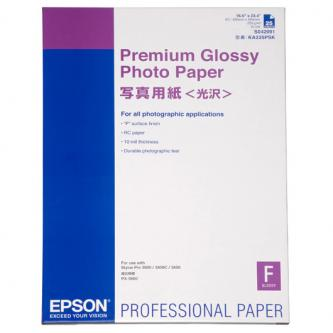 Epson Premium Glossy Photo Paper, foto papír, lesklý, bílý, Stylus Photo 890, 895, 1270, 2100, A2, 255 g/m2, 25 ks, C13S042091, in