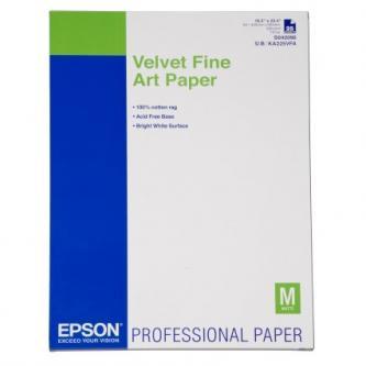 Epson Velvet Fine Art Paper, umělecký papír, sametový, bílý, A2, 260 g/m2, 25 ks, C13S042096, inkoustový