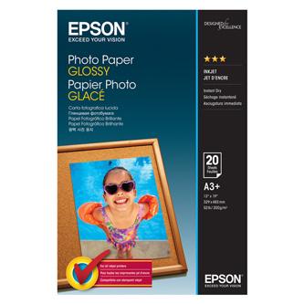 Epson Photo Paper Glossy, foto papír, lesklý, bílý, A3+, 200 g/m2, C13S042535, pro inkoustové tiskárny