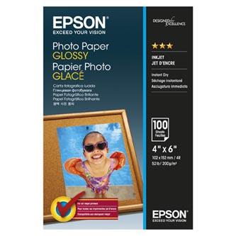 """Epson Photo Paper, foto papír, lesklý, bílý, 10x15cm, 4x6"""", 200 g/m2, 100 ks, C13S042548, inkoustový"""