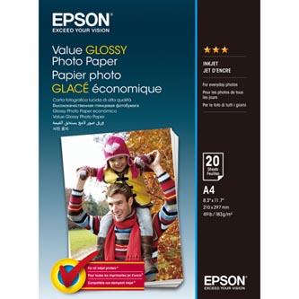 Epson Value Glossy Photo Paper, foto papír, lesklý, bílý, A4, 183 g/m2, 20 ks, C13S400035, inkoustový