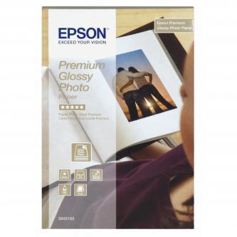 """Epson Premium Glossy Photo Paper, foto papír, lesklý, bílý, Stylus Color, Photo, Pro, 10x15cm, 4x6"""", 255 g/m2, 40 ks, C13S042153,"""