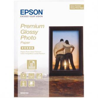 """Epson Premium Glossy Photo Paper, foto papír, lesklý, bílý, Stylus Color, Photo, Pro, 13x18cm, 5x7"""", 255 g/m2, 30 ks, C13S042154,"""