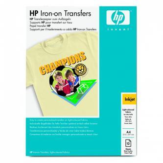 HP, nažehlovací fólie, bílá, A4, 170 g/m2, 12 ks, pro inkoustové tiskárny