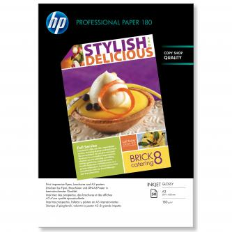 HP Superior Inkjet Paper 180 Glossy, bílá, 50, ks C6821A, pro inkoustové tiskárny, 297x420mm (A3), A3, 180 g/m2