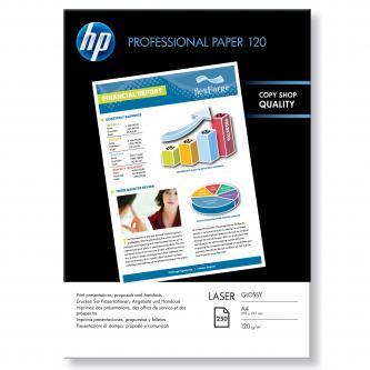 HP Professional Glossy Laser Photo Paper, foto papír, lesklý, bílý, A4, 120 g/m2, 250 ks, CG964A, laserový