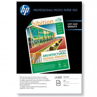 HP Profesional Glossy Laser Photo Paper, foto papír, lesklý, bílý, A4, 200 g/m2, 100 ks, CG966A, laserový