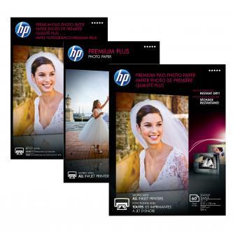 """HP Premium Plus Glossy Photo Paper, foto papír, lesklý, bílý, 10x15cm, 4x6"""", 300 g/m2, 25 ks, CR677A, inkoustový,bez okrajů"""