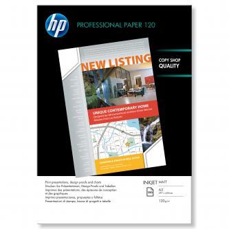 HP Professional Inkjet Paper, bílá, 100, ks Q6594A, pro inkoustové tiskárny, 297x420mm (A3), A3, 120 g/m2