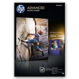 "HP Advanced Glossy Photo Paper, foto papír, lesklý, zdokonalený, bílý, 10x15cm, 4x6"", 250 g/m2, 60 ks, Q8008A, inkoustový,bez okra"