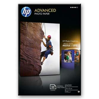 """HP Advanced Glossy Photo Paper, foto papír, bez okrajů typ lesklý, zdokonalený typ bílý, 10x15cm, 4x6"""", 250 g/m2, 25 ks, Q8691A, i"""