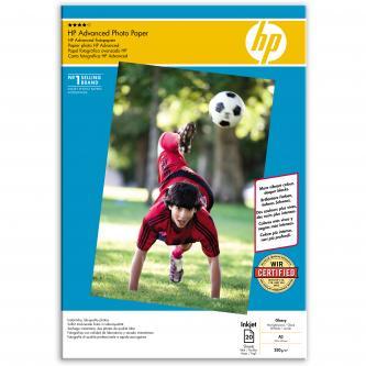 HP Advanced Glossy Photo Paper, foto papír, lesklý, zdokonalený typ bílý, A3, 250 g/m2, 20 ks, Q8697A, inkoustový