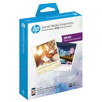 HP Social Media Snapshots, foto papír, lesklý, bílý, 265 g/m2, 25 ks, W2G60A, inkoustový