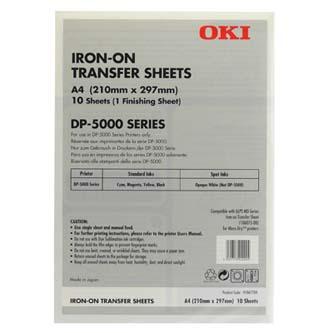 OKI, nažehlovací fólie, bílá, A4, 10 ks, pro inkoustové tiskárny