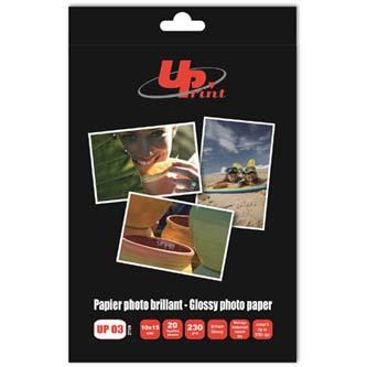"""UPrint Glossy photopaper, foto papír, lesklý, bílý, 10x15cm, 4x6"""", 230 g/m2, 20 ks, inkoustový"""