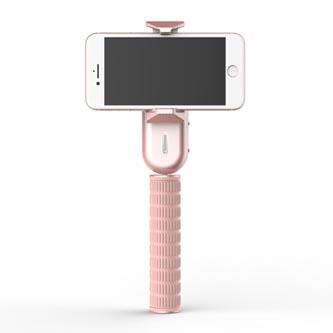 Gimbal, pro smartphony, jednoosý (360°), růžový, 2600mAh, gyroskopický držák, WEWOW