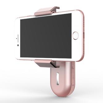 Gyroskopický držák, pro smartphony, jednoosý (360°), růžový, 2600mAhWEWOW