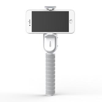 Gimbal, pro smartphony, jednoosý (360°), stříbrný, 2600mAh, gyroskopický držák, WEWOW