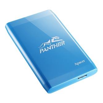 """Apacer externí pevný disk, Portable Color Box AC235, 2.5"""", USB 3.0, 1TB, 1000GB, AP1TBAC235UP-1, modrý, LED indikátor rychlosti př"""