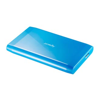 """Apacer externí pevný disk, Portable Color Box AC235, 2.5"""", USB 3.0, 2TB, 2000GB, AP2TBAC235U-1, modrý, LED indikátor rychlosti pře"""