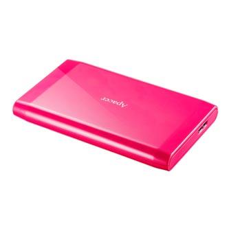 """Apacer externí pevný disk, AC235, 2.5"""", USB 3.1, 500GB, AP500GAC235P-1, růžový, LED indikátor rychlosti přenosu"""