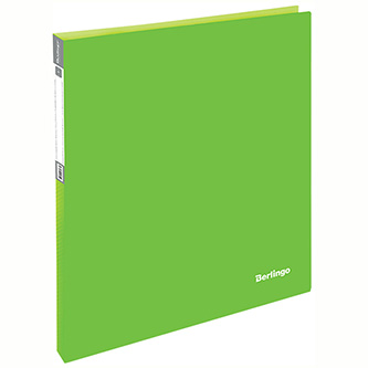 Pořadač 2-kroužkový, A4, 25mm, 700mic, zelený, Berlingo, Neon, 20ks