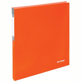 Pořadač 2-kroužkový, A4, 25mm, 700mic, oranžový, Berlingo, Neon, 20ks