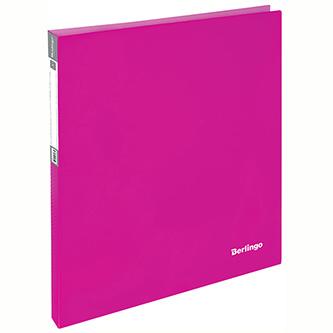 Pořadač 2-kroužkový, A4, 25mm, 700mic, růžový, Berlingo, Neon, 20ks