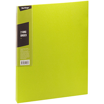 Pořadač 2-kroužkový, A4, 35mm, 600mic, zelený, Berlingo, Color Zone, 14ks