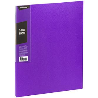 Pořadač 2-kroužkový, A4, 35mm, 600mic, fialový, Berlingo, Color Zone, 14ks