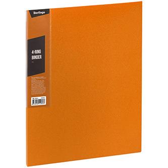 Pořadač 4-kroužkový, A4, 35mm, 600mic, oranžový, Berlingo, Color Zone, 14ks