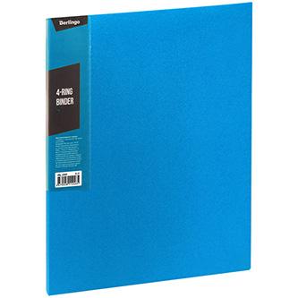 Pořadač 4-kroužkový, A4, 35mm, 600mic, modrý, Berlingo, Color Zone, 14ks