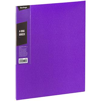 Pořadač 4-kroužkový, A4, 35mm, 600mic, fialový, Berlingo, Color Zone, 14ks