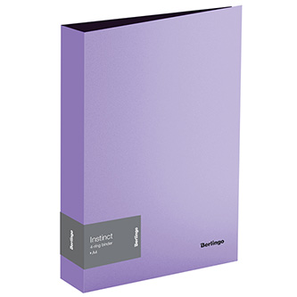 Pořadač 4-kroužkový, A4, 35mm, 700mic, fialový, Berlingo, Instinct, 14ks