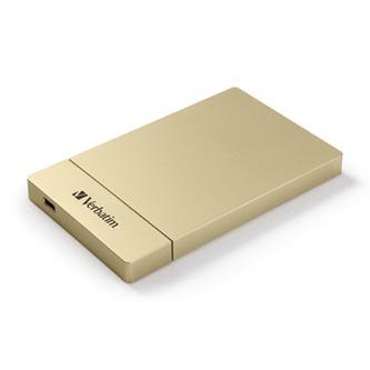 "Verbatim Store ,n, Go 2.5"" HDD/SSD Kit USB C/3.1, pro interní HDD/SSD, 2.5"", USB 3.1, 53104, zlatý"