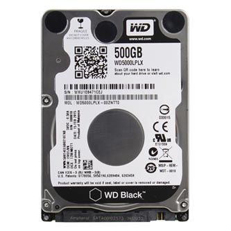 "Western Digital interní pevný disk, WD Black, 2.5"", SATA III, 500GB, WD5000LPLX"