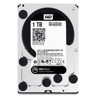 """Western Digital interní pevný disk, WD Black, 3.5"""", SATA III/SATA II, 1TB, 1000GB, WD1003FZEX"""
