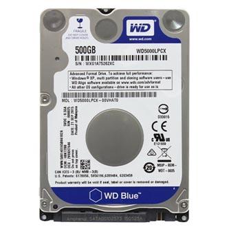 "Western Digital interní pevný disk, WD Blue, 2.5"", SATA III, 0,5TB, 500GB, WD5000LPCX"