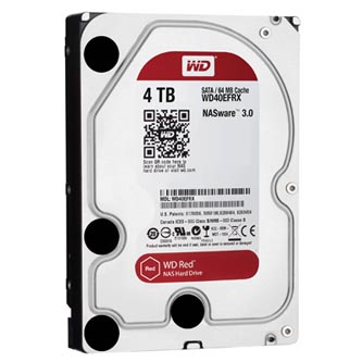 "Pevný disk NAS, Western Digital, 3.5"", 4000GB, 4TB, WD Red, SATA III/SATA II, IntelliPower, WD40EFRX"