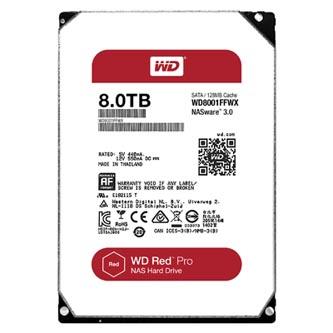 """Pevný disk NAS, Western Digital, 3.5"""", 8000GB, 8TB, WD RED Pro, SATA III, 7200, WD8001FFWX"""