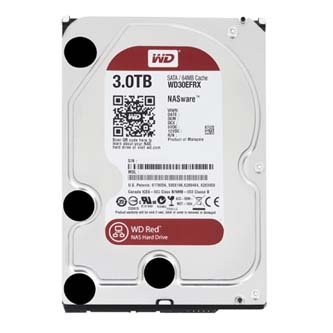 "Pevný disk, Western Digital, 3.5"", 3000GB, 3TB, Red Raid Editon, SATA III, 5400, WD30EFRX, černá, IntelliPower"