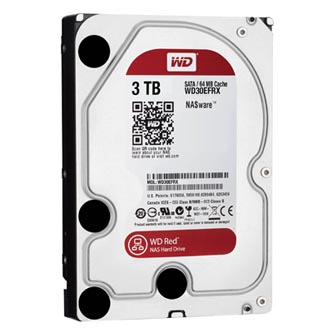 "Pevný disk NAS, Western Digital, 3.5"", 3000GB, 3TB, WD Red, SATA III/SATA II, 5400, WD30EFRX"