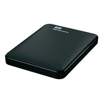 "Western Digital externí pevný disk, Elements Portable, 2.5"", USB 3.0/USB 2.0, 1TB, 1000GB, WDBUZG0010BBK-EESN, WDBUZG0010BBK-WESN,"