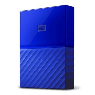 "Western Digital externí pevný disk, My Passport, 2.5"", USB 3.0, 2TB, 2000GB, WDBYFT0020BBL-WESN, modrý"