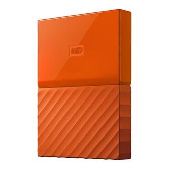 """Western Digital externí pevný disk, My Passport, 2.5"""", USB 3.0, 2TB, 2000GB, WDBYFT0020BOR-WESN, oranžový"""