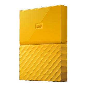 """Western Digital externí pevný disk, My Passport, 2.5"""", USB 3.0, 2TB, 2000GB, WDBYFT0020BYL-WESN, žlutý"""