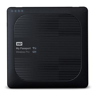 "Western Digital externí pevný disk, My Pass Wireless Pro, 2.5"", USB 3.0/Wi-Fi/SD, 2TB, 2000GB, WDBP2P0020BBK-EESN, černý"