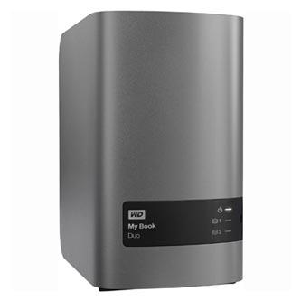 "Western Digital externí pevný disk, My Book DUO, 3.5"", USB 3.0, 4TB, 4000GB, WDBLWE0040JCH-EESN, stříbrný"