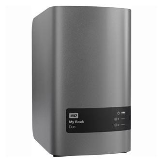 "Western Digital externí pevný disk, My Book DUO, 3.5"", USB 3.0, 8TB, WDBLWE0080JCH-EESN, stříbrný, 2 x 4 TB"